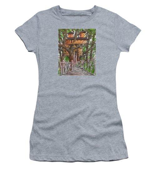 Tree House #6 Women's T-Shirt (Junior Cut) by Jim Hubbard