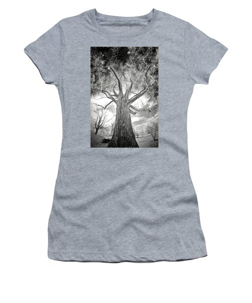 Tree Monster Bw Ap Women's T-Shirt (Athletic Fit)