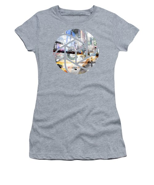 Trendy Design Nyc Geometric Mix No 9 Women's T-Shirt (Junior Cut) by Melanie Viola