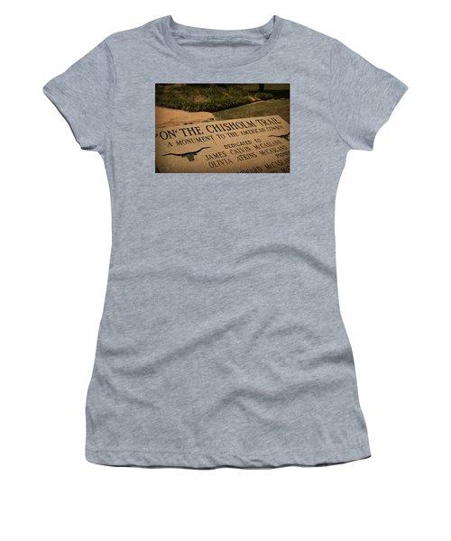 Tribute To The Cowboy Women's T-Shirt (Junior Cut) by Toni Hopper