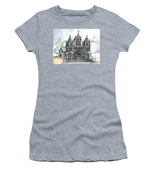 Trinity Church Boston Women's T-Shirt (Junior Cut) by Paul Meinerth