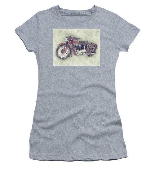 Triumph Speed Twin 1 - 1937 - Vintage Motorcycle Poster - Automotive Art Women's T-Shirt