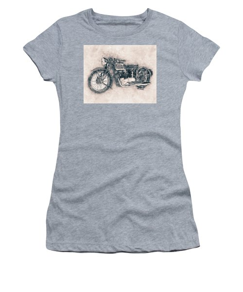 Triumph Speed Twin - 1937 - Vintage Motorcycle Poster - Automotive Art Women's T-Shirt