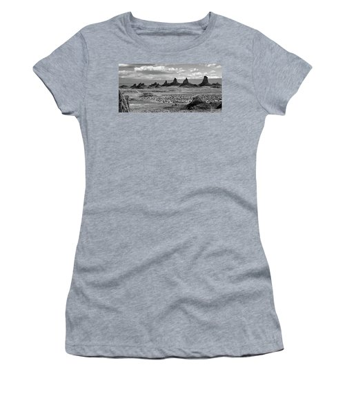 Trona Pinnacles Peaks Women's T-Shirt (Athletic Fit)