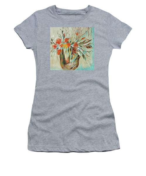 Women's T-Shirt (Junior Cut) featuring the painting Tropical Arrangement by Joanne Smoley