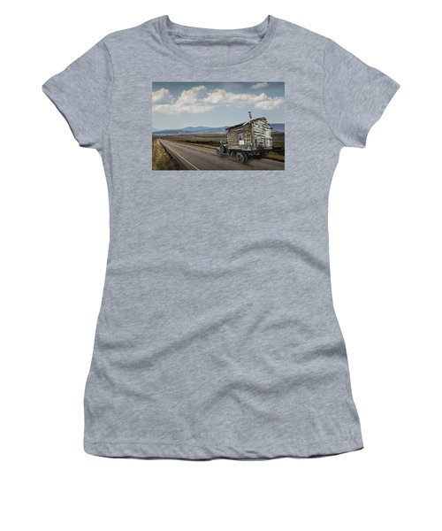 Truck Motor Home Traveling On The Road Women's T-Shirt