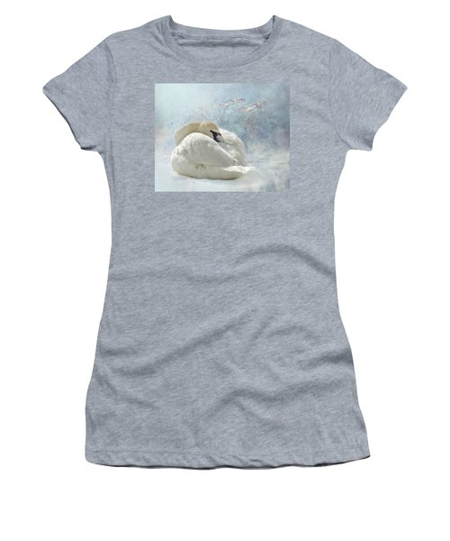 Trumpeter Textures #1 - Swan Feather Women's T-Shirt