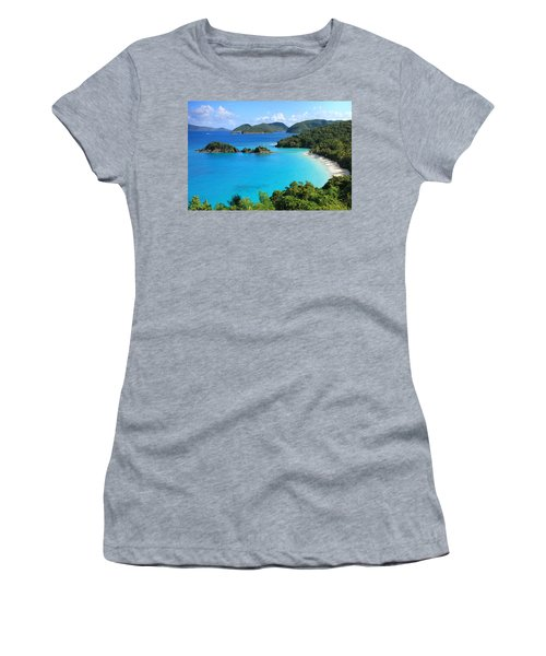 Trunk Bay St. John Women's T-Shirt (Athletic Fit)