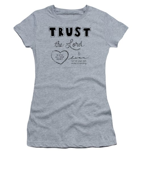 Women's T-Shirt featuring the digital art Trust by Nancy Ingersoll