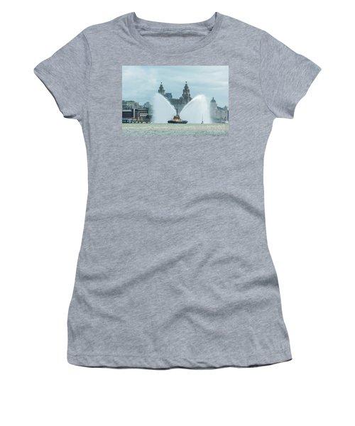 Tug Boat Fountain Women's T-Shirt