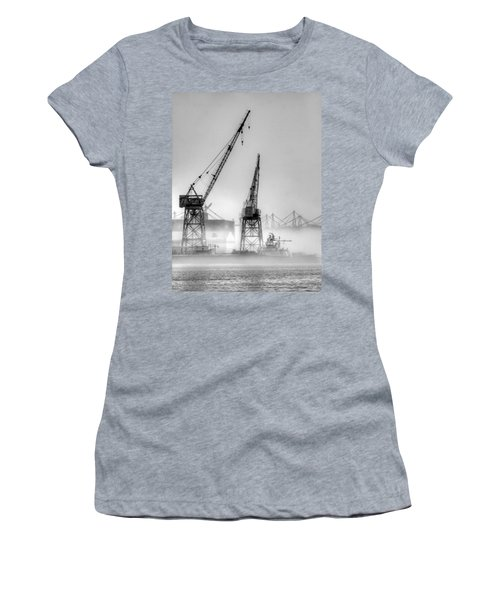 Tug With Cranes Women's T-Shirt (Athletic Fit)