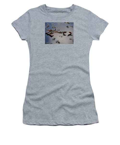 Tulip Tree Leaves Women's T-Shirt (Junior Cut) by Jane Ford