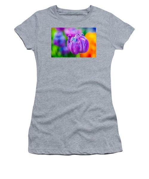 Women's T-Shirt (Junior Cut) featuring the photograph Tulips Enchanting 47 by Alexander Senin