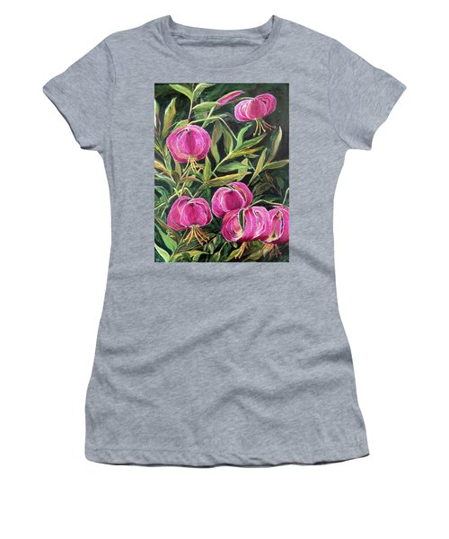 Turk Tigers In My Garden Women's T-Shirt (Athletic Fit)