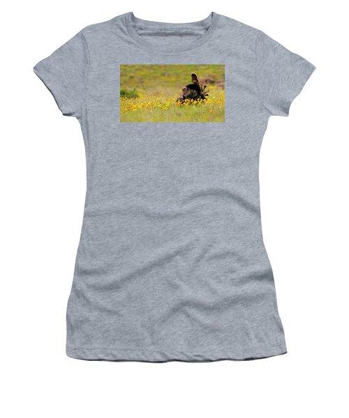 Turkey In Wildflowers Women's T-Shirt (Athletic Fit)
