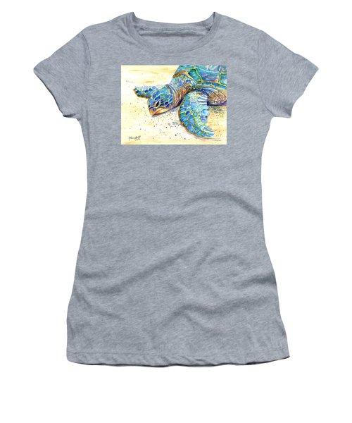 Turtle At Poipu Beach 4 Women's T-Shirt