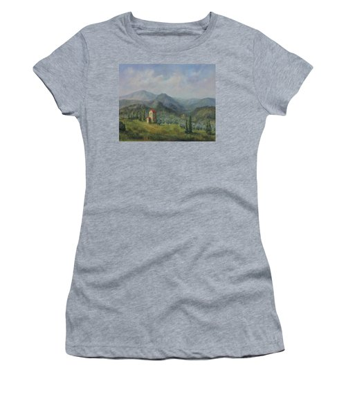 Tuscany Italy Olive Groves Women's T-Shirt (Athletic Fit)
