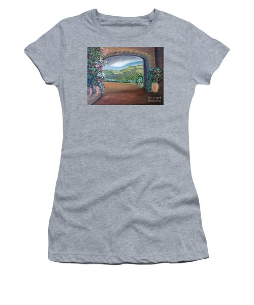 Tuscany Vineyards Through The Archway Women's T-Shirt (Athletic Fit)