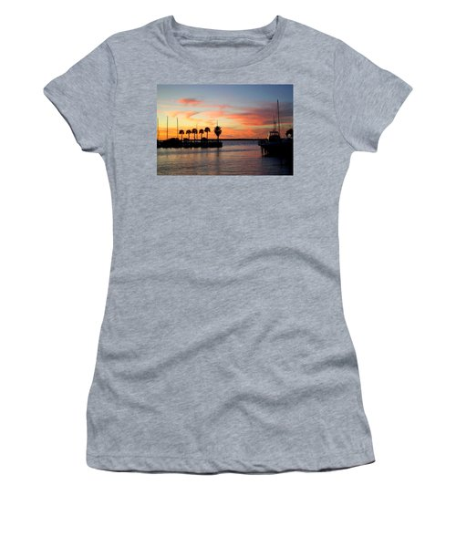 Twilight At The Marina Women's T-Shirt (Athletic Fit)