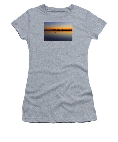 Women's T-Shirt (Junior Cut) featuring the photograph Twilight Water Skiing by Michael Rucker