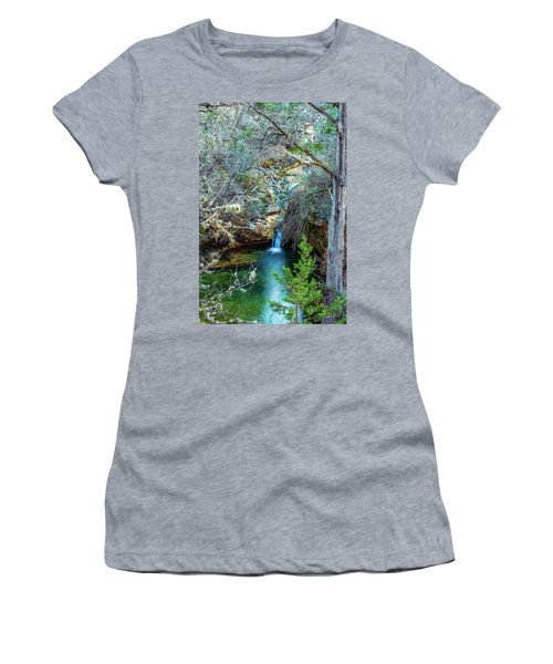 Twin Falls At Peddernales Falls State Park Women's T-Shirt (Athletic Fit)
