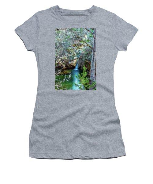 Twin Falls At Peddernales Falls State Park Women's T-Shirt (Junior Cut)