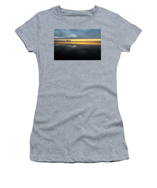 Twin Rocks Sunset Sliver Women's T-Shirt (Athletic Fit)
