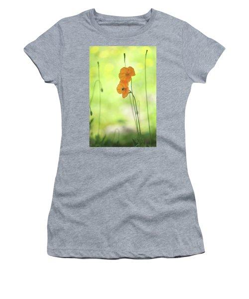 Twins. Orange Poppies Women's T-Shirt