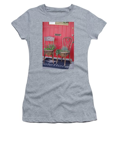 Two Chairs With Plants Women's T-Shirt