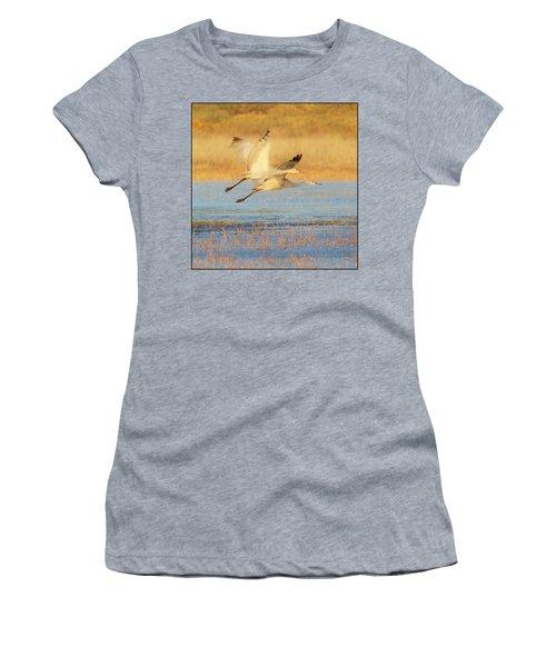 Two Cranes Cruising Women's T-Shirt
