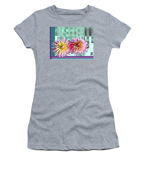 Two Dahlias Women's T-Shirt (Athletic Fit)