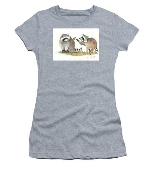 Two Raccoons Women's T-Shirt (Athletic Fit)