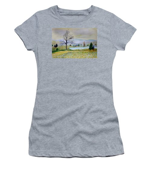 Two Tracking Women's T-Shirt (Junior Cut) by Dick Bourgault
