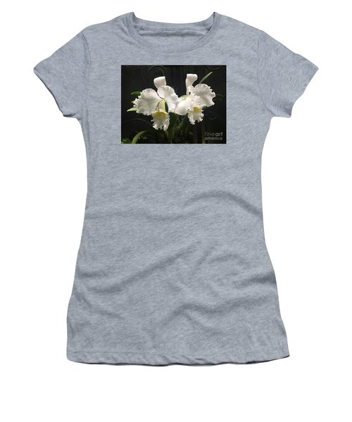 Two White Orchids Women's T-Shirt (Athletic Fit)