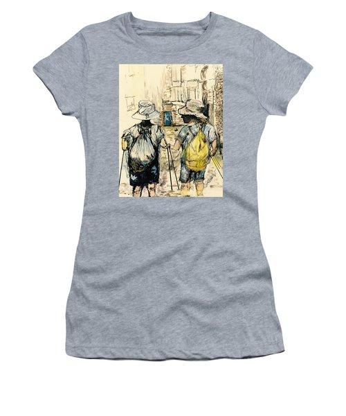 Texans On The Camino De Santiago Women's T-Shirt (Athletic Fit)