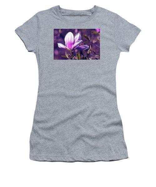 Ultra Violet Magnolia  Women's T-Shirt (Athletic Fit)