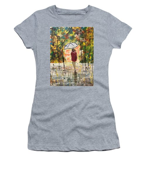 Umbrella Girl Women's T-Shirt (Athletic Fit)