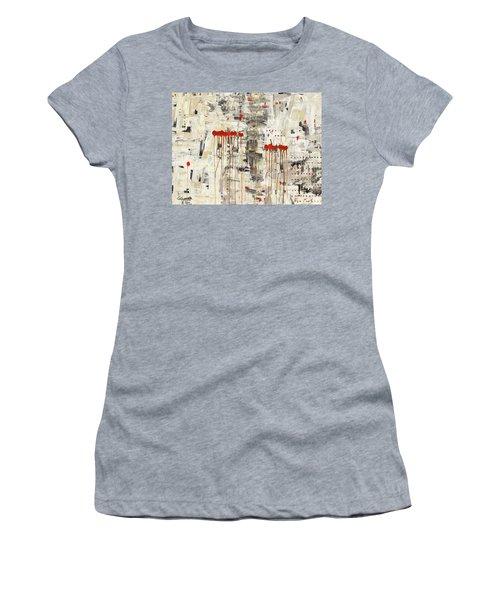 Women's T-Shirt (Junior Cut) featuring the painting Un Pour Tous by Carmen Guedez