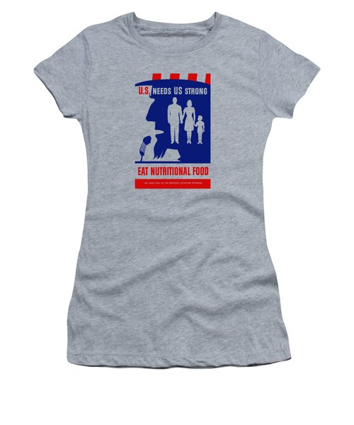 Uncle Sam - Eat Nutritional Food Women's T-Shirt (Athletic Fit)