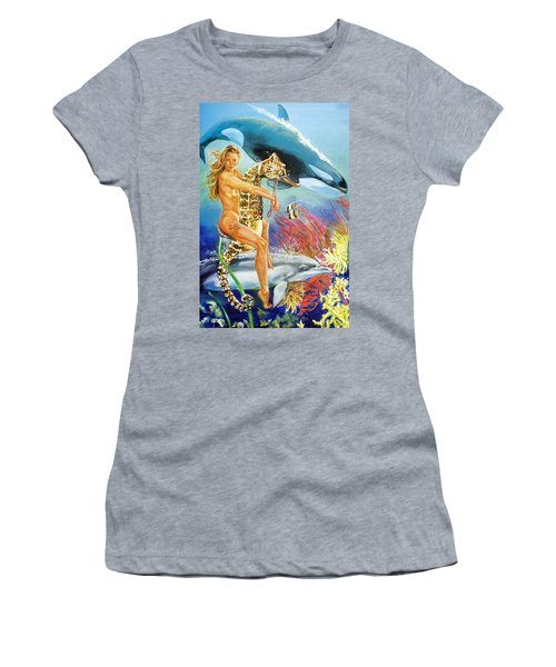 Undersea Fantasy Women's T-Shirt (Athletic Fit)
