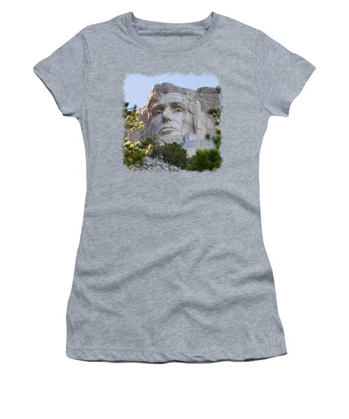 Unfinished Lincoln 3 Women's T-Shirt (Junior Cut) by John M Bailey