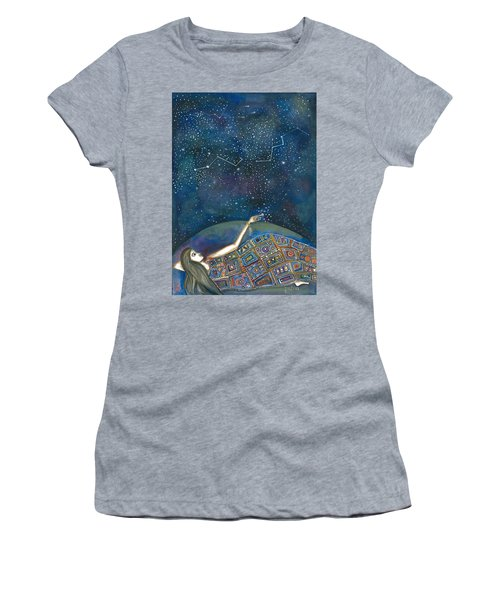 Women's T-Shirt (Athletic Fit) featuring the mixed media Universal Magic by Prerna Poojara