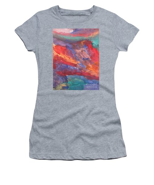 Untitled 95 Original Painting Women's T-Shirt (Athletic Fit)