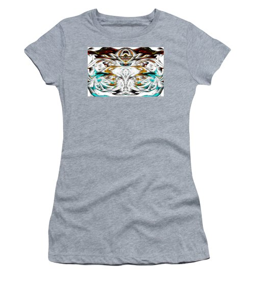 Women's T-Shirt (Athletic Fit) featuring the digital art Untitled Series 992.042212 by Kris Haas