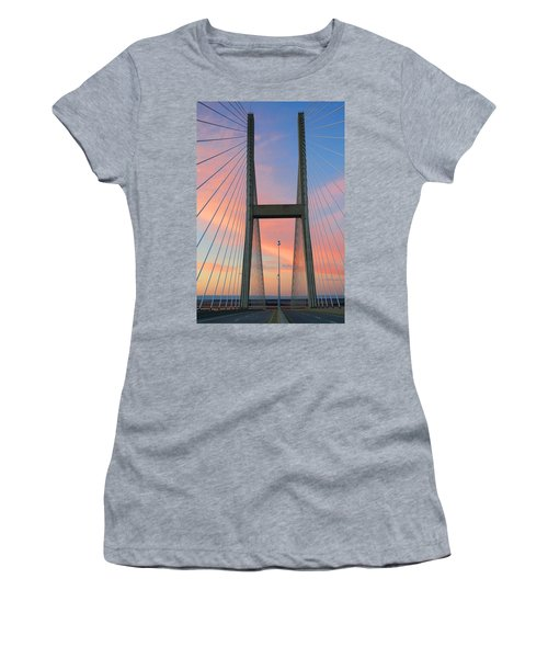 Up On The Bridge Women's T-Shirt (Junior Cut) by Kathryn Meyer