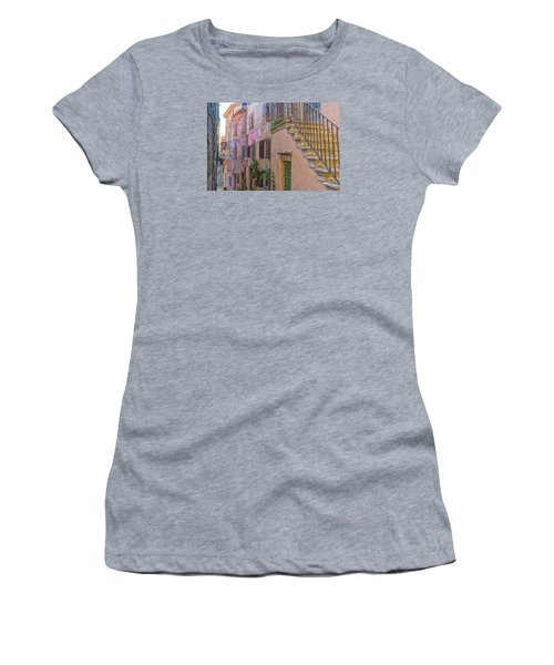 Urban View With Laundary Women's T-Shirt (Junior Cut) by Uri Baruch
