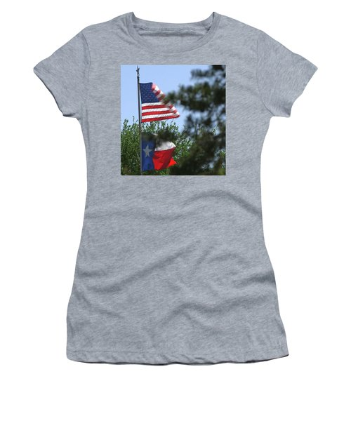 Usa Blesses Texas Women's T-Shirt (Athletic Fit)