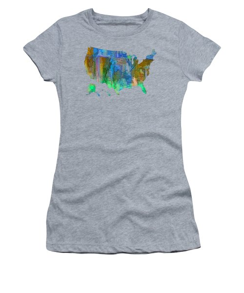 Usa - Colorful Map Women's T-Shirt
