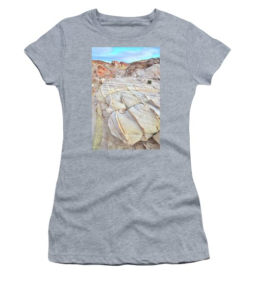 Valley Of Fire Sandstone Women's T-Shirt (Junior Cut) by Ray Mathis