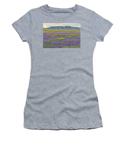 Valley Phacelia And Caliente Range Women's T-Shirt (Junior Cut) by Marc Crumpler